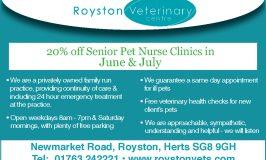 Royston Vets- Senior Pet Screening
