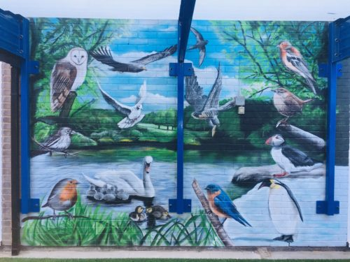 Icknield Walk First School's New Mural!