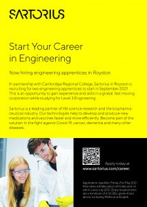 Recruitment:  Sartorius