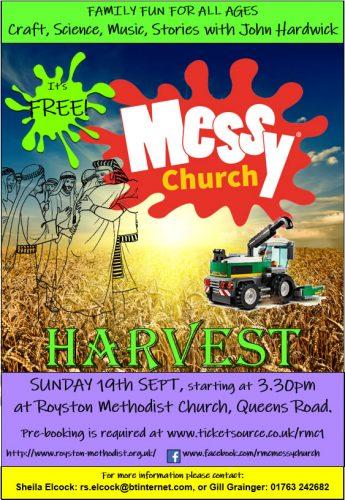 Messy Church September Harvest @ Royston Methodist Church | England | United Kingdom