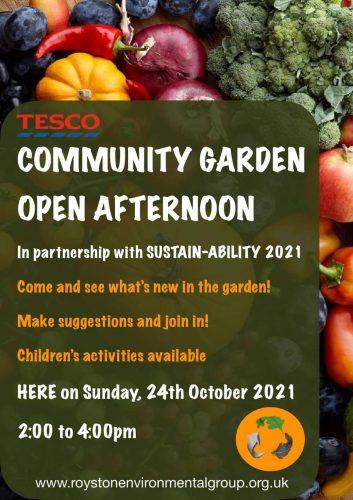 Sustain-ability 2021: Tesco Community Garden Open Day @ Tesco Roundabout | England | United Kingdom