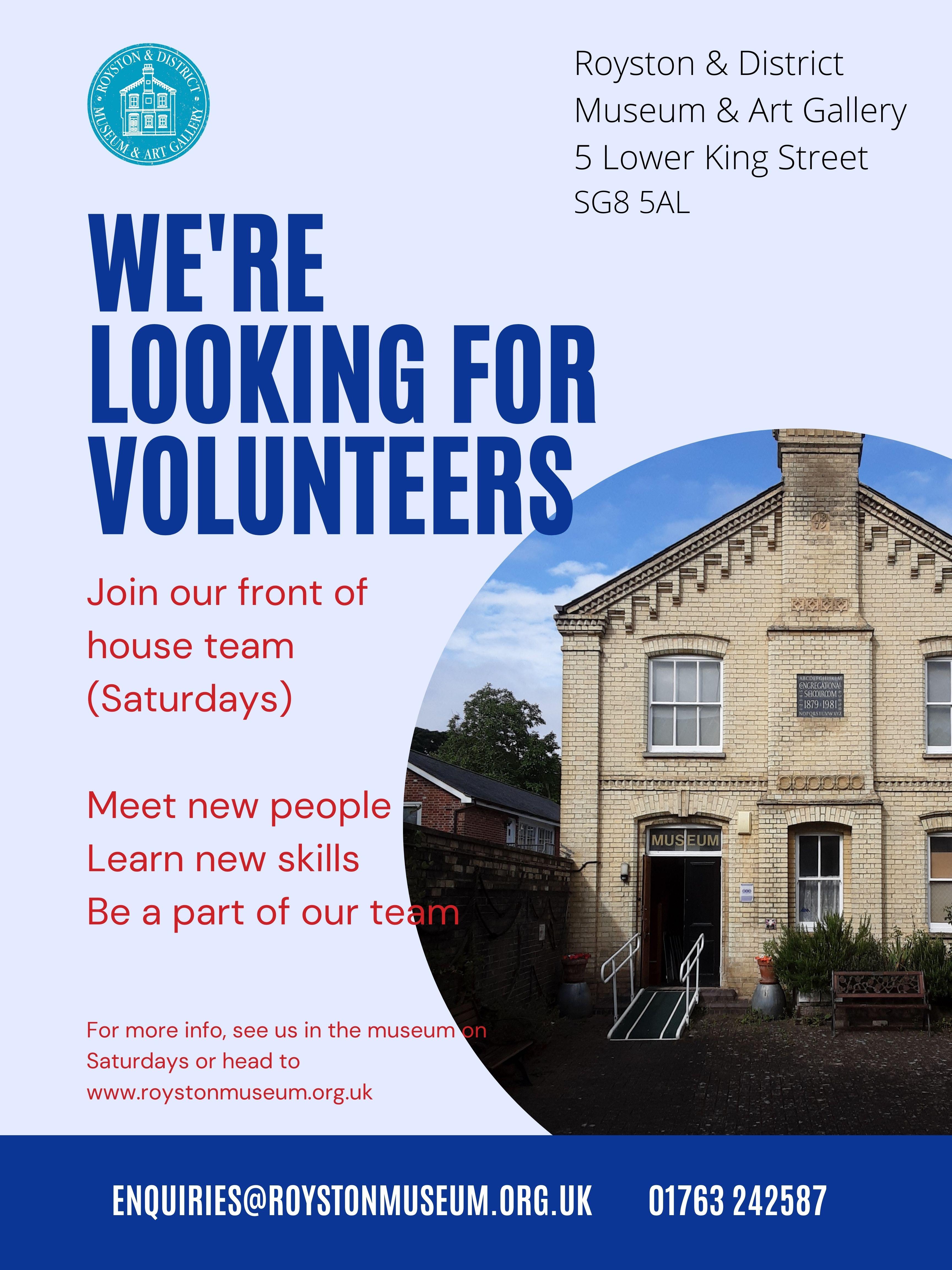 Recruitment:  Royston Museum Volunteers