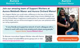 Recruitment:  Support Workers at Aurora