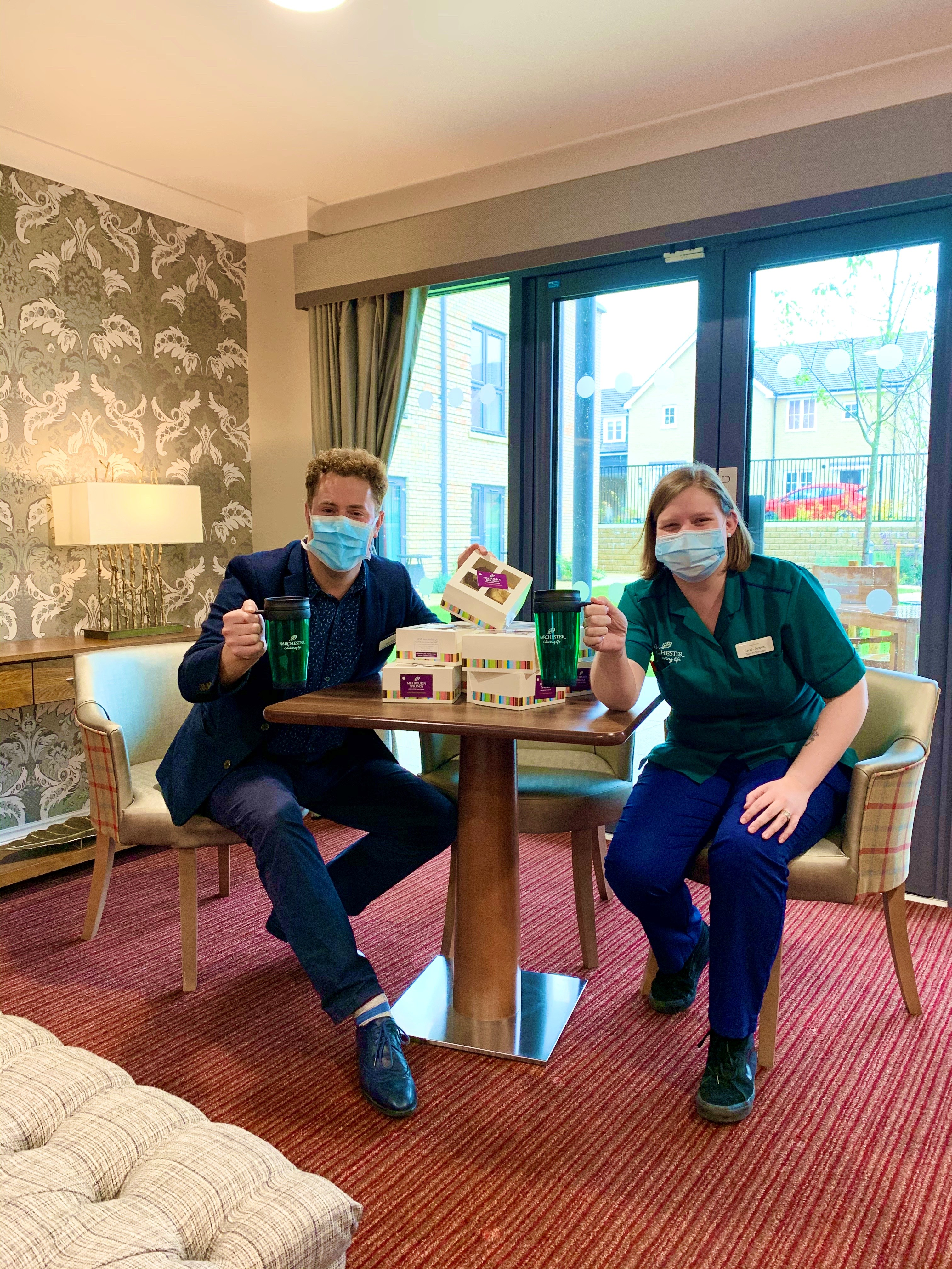 Melbourn Springs:  Ambulance Crews Receive Gifts