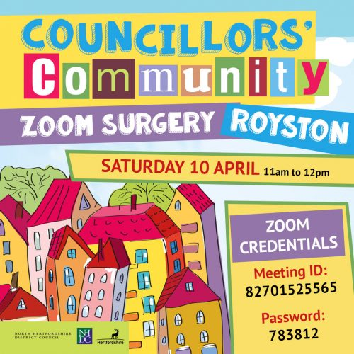 Royston Councillors' Community Zoom Surgery @ Online