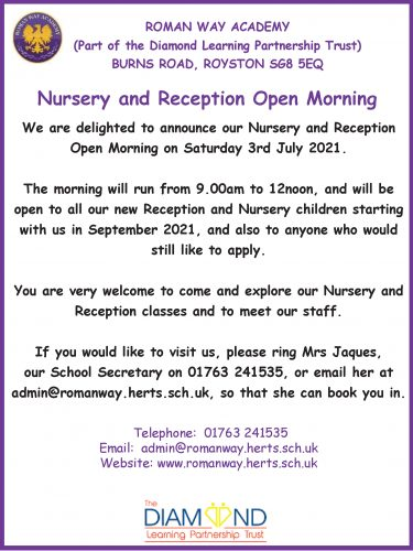 Roman Way Academy Open Morning @ Roman Way Academy | England | United Kingdom