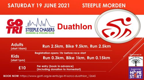 The Steeple Chasers Running and Cycling Club (SCRCC) Duathlon @ Steeple Morden | Steeple Morden | England | United Kingdom