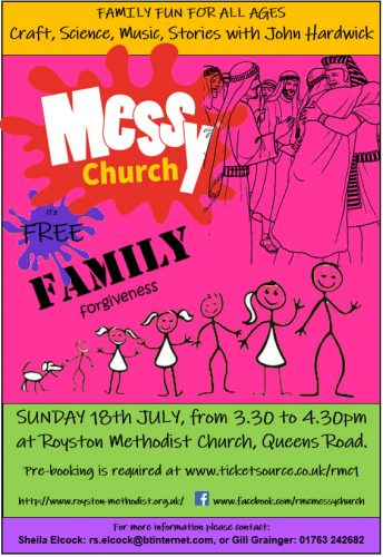 Messy Church for July - Families and Forgiveness @ Royston Methodist Church | England | United Kingdom