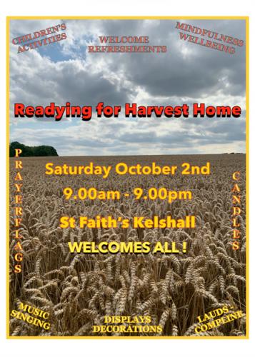 Readying for Harvest Home @ St Faiths Kelshall | Kelshall | England | United Kingdom