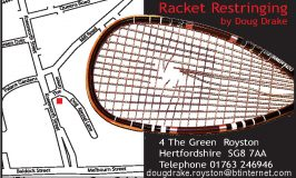 Business Profile: Racket Restringing – Badminton – Tennis – Squash