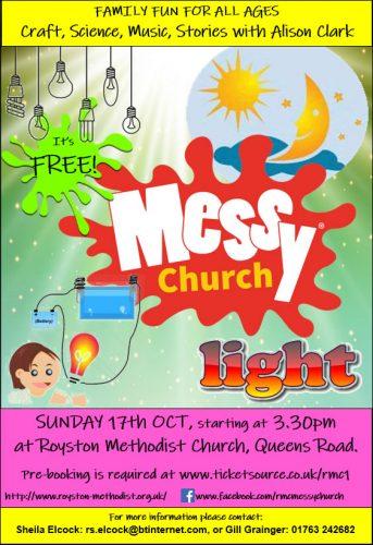 Messy Church October Light @ Royston Methodist Church | England | United Kingdom